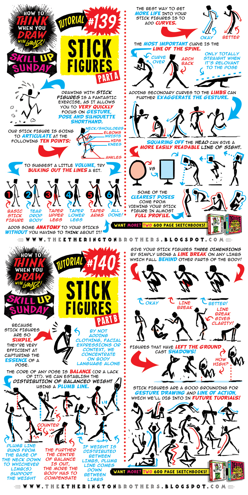 How to draw STICK FIGURES tutorial by STUDIOBLINKTWICE