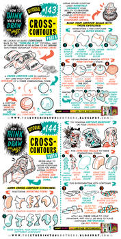 How to draw CROSS-CONTOURS tutorial