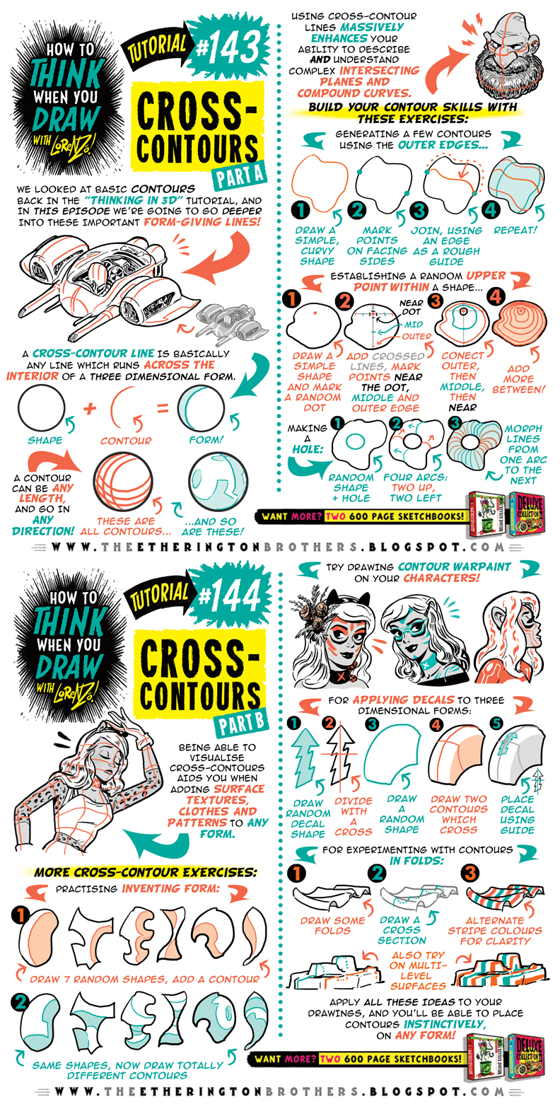 How to draw CROSS-CONTOURS tutorial by STUDIOBLINKTWICE