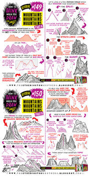 How to draw MOUNTAINS tutorial