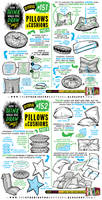 How to draw PILLOWS and CUSHIONS tutorial