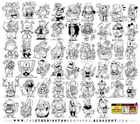 52 CHARACTER DESIGNS!