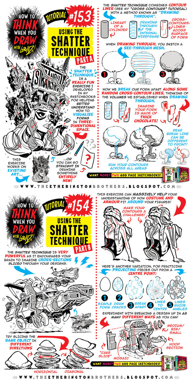 How to draw using the SHATTER TECHNIQUE tutorial by STUDIOBLINKTWICE