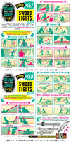 How to draw SWORD FIGHTS tutorial
