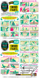 How to draw SWORD FIGHTS tutorial by EtheringtonBrothers