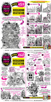 How to  draw OVERGROWN VEGETATION tutorial