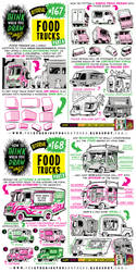 How to draw FOOD TRUCKS tutorial by EtheringtonBrothers