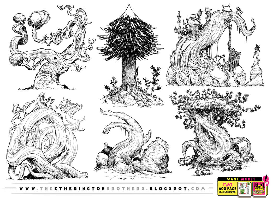 SIX GIANT TREE REFERENCES! by STUDIOBLINKTWICE