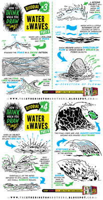 How to draw SEA WATER and WAVES tutorial