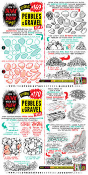 How to draw PEBBLES and GRAVEL tutorial