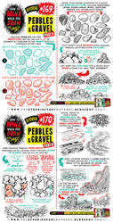 How to draw PEBBLES and GRAVEL tutorial by EtheringtonBrothers