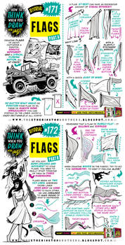 How to draw FLAGS tutorial