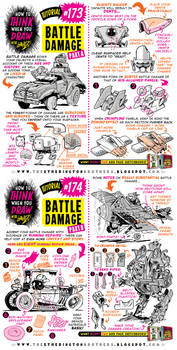 How to draw BATTLE DAMAGE tutorial