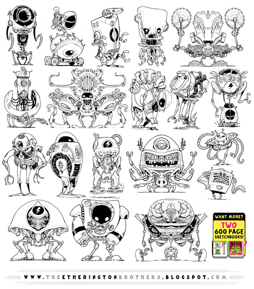 18 ROBOT DESIGN REFERENCES! by EtheringtonBrothers