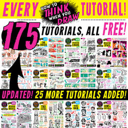 175 How to THINK when you DRAW tutorials FREE!