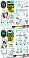 How to draw HANDS (parts 1 and 2) tutorial by EtheringtonBrothers