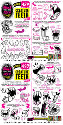 How to THINK when you draw CREATURE TEETH tutorial by EtheringtonBrothers