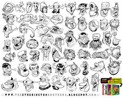 59 MONSTER and CREATURE HEAD references! by EtheringtonBrothers