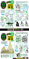How to THINK when you draw IN 3D tutorial