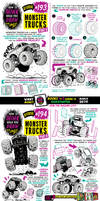 How to think when you draw MONSTER TRUCKS tutorial