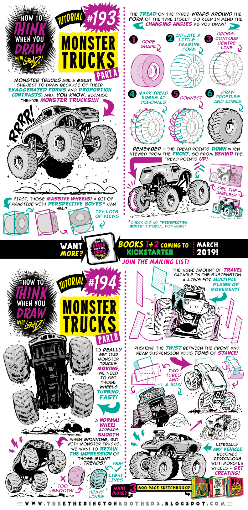 How To Think When You Draw Monster Trucks Tutorial By Etheringtonbrothers On Deviantart