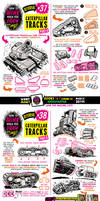 How to THINK when you draw CATERPILLAR TRACKS by EtheringtonBrothers