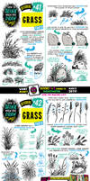 How to draw GRASS for #LEARNUARY!