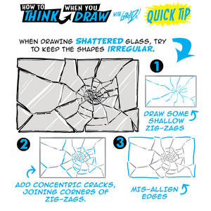 How to draw SHATTERED GLASS QUICK TIP #LEARNUARY!