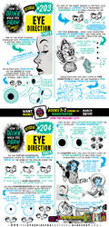 How to draw EYE DIRECTION tutorial for #LEARNUARY! by EtheringtonBrothers