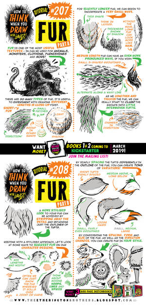 How to draw FUR tutorial for #LEARNUARY!