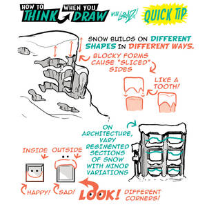 How to draw SNOW - QUICK TIP!