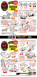 How to draw SAUSAGE DOGS tutorial! by EtheringtonBrothers