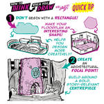 How to draw INTERIORS QUICK TIP!