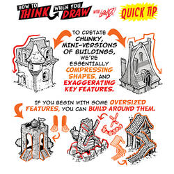 How to draw GAME BUILDINGS QUICK TIP! by EtheringtonBrothers