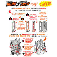How to draw COMPRESSED, CHUNKY DESIGNS QUICK TIP!