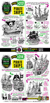 How to draw PIRATE SHIPS tutorial!