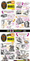 How to THINK when you draw BOOKS tutorial! by EtheringtonBrothers