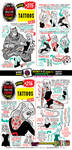 How to THINK when you draw TATTOOS tutorial! by EtheringtonBrothers