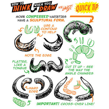 How to draw HORNS QUICK TIP! by EtheringtonBrothers