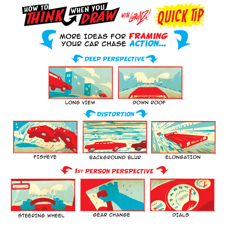 More how to draw CAR CHASE QUICK TIPS! by EtheringtonBrothers