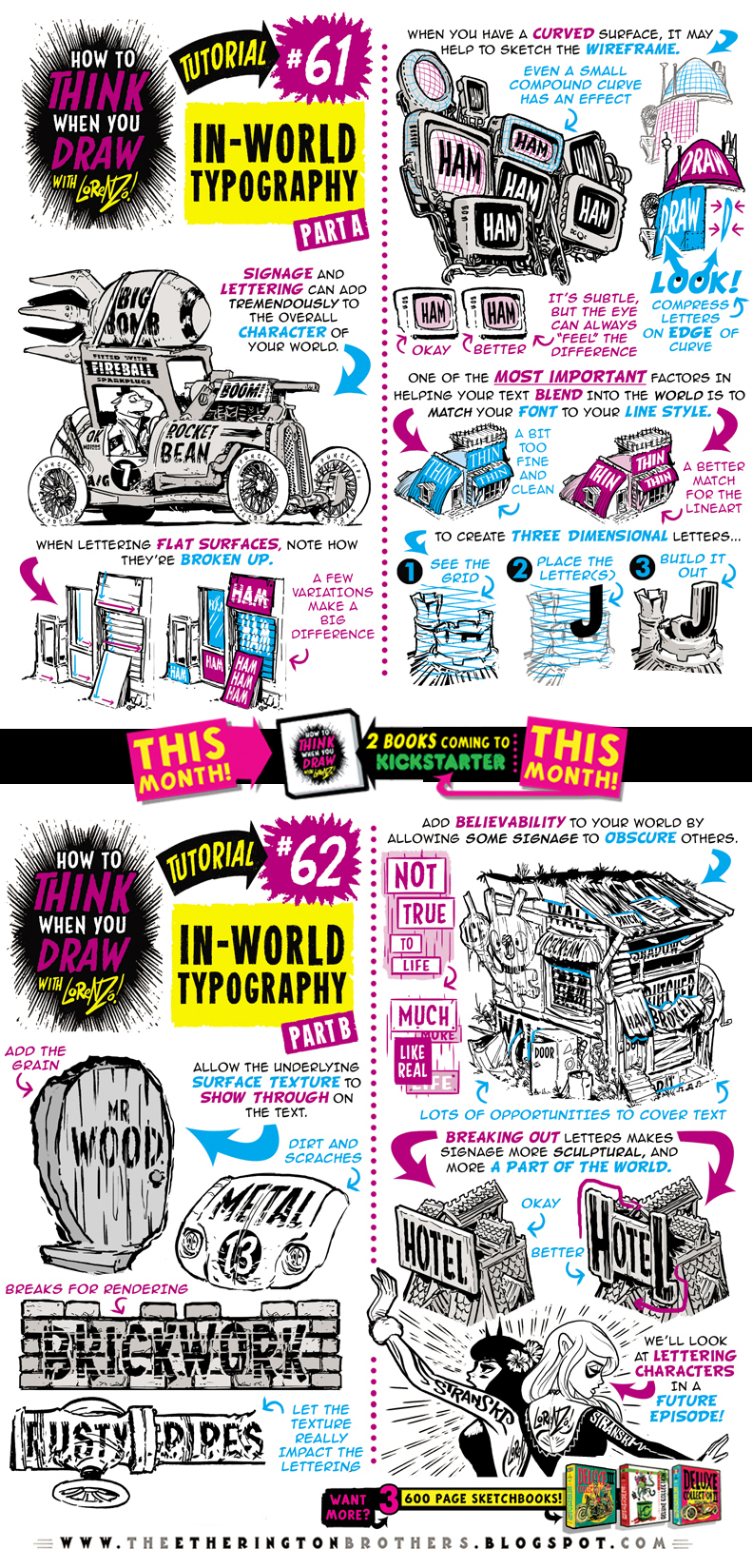 How to THINK when you draw IN-WORLD TYPOGRAPHY! by EtheringtonBrothers