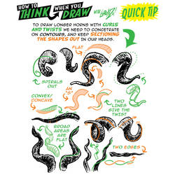 MORE HORN drawing QUICK TIPS! by EtheringtonBrothers