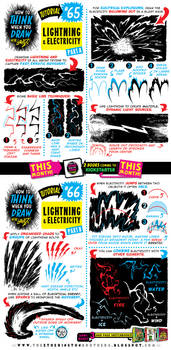 How to draw LIGHTNING and ELECTRICITY