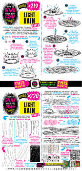 How to THINK when you draw LIGHT RAIN tutorial