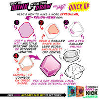 How to draw ROUGH GEMS - KICKSTARTER is LIVE! by EtheringtonBrothers