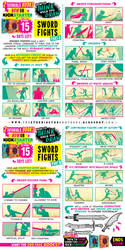 How to draw SWORD FIGHTS - KICKSTARTER BOOKS! by EtheringtonBrothers