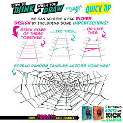 How to THINK when you draw WEBS QUICK TIP! by EtheringtonBrothers