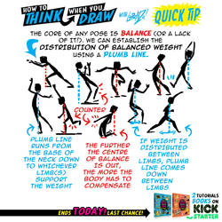 How to THINK when your draw CHARACTER POSES TIP! by EtheringtonBrothers
