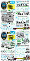 How to THINK when you draw VEHICLE THROUGH-LINES! by EtheringtonBrothers