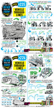 How to THINK when you draw VEHICLE THROUGH-LINES!